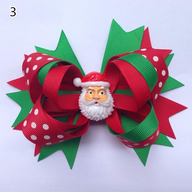 adornos de navidad los nios del beb girls grosgrain cinta del pelo arquea las pinzas pinzas