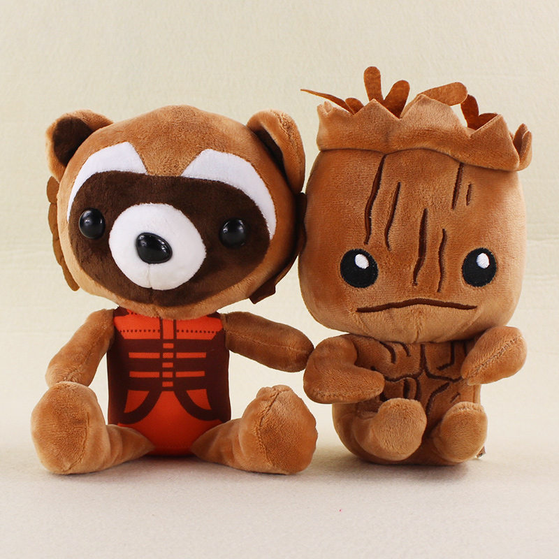 Guardians Galaxy Classic Plush font b Toys b font 19cm Tree Man Rocket Raccoon Stuffed Plush