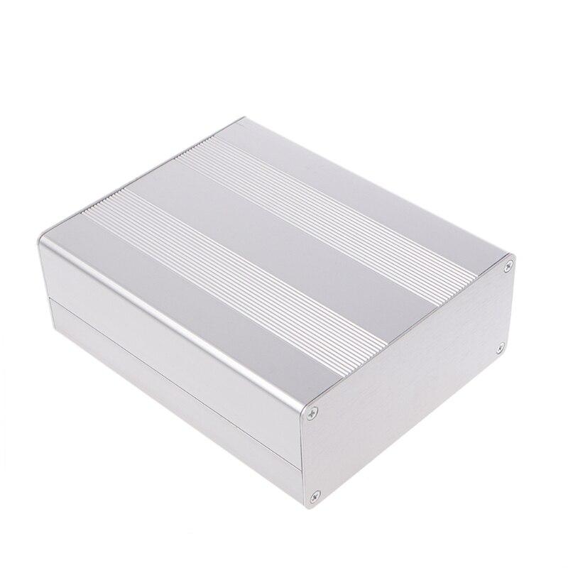 Alüminyum kutu muhafaza kutusu projesi elektronik PCB kurulu DIY 130x110x50mm Dls Konnektörler    -