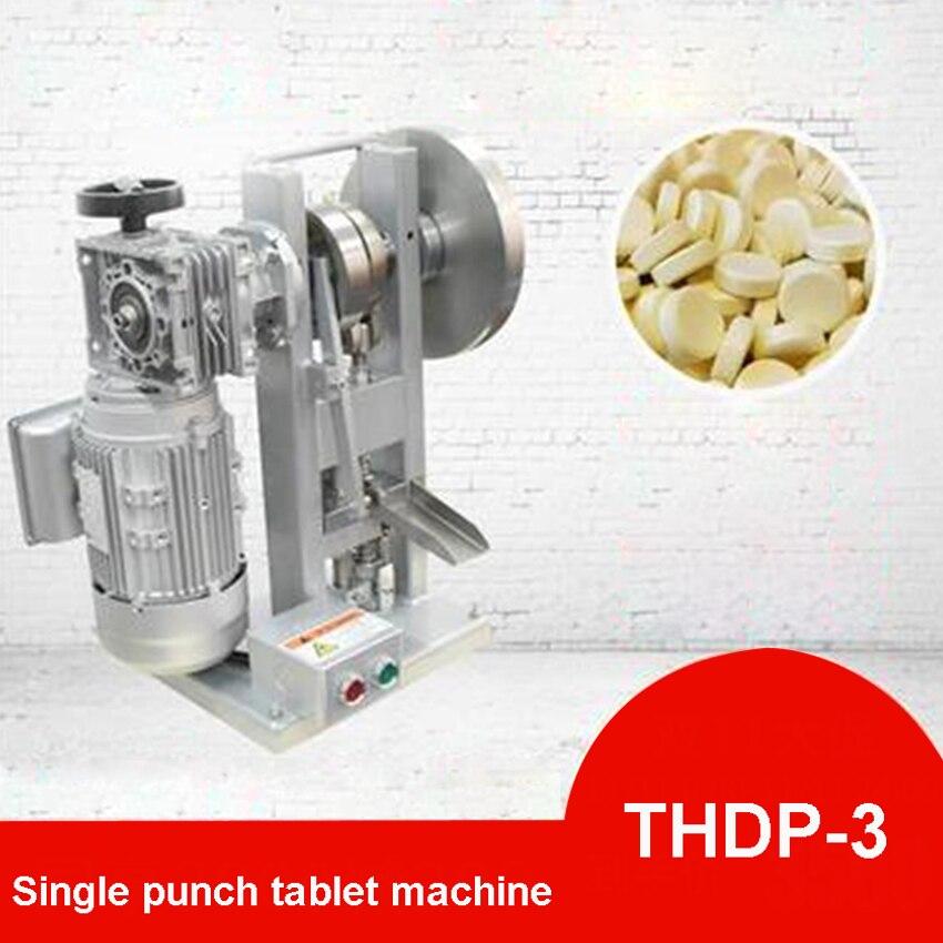 THDP-3 New Upgraded Single Punch Turbine Tablet Press Machine Milk Tableting Machine Punch Tablet Press Machine 110V220V 750W