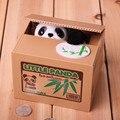 Corte Automático Roubou Cão Moeda Banco Caixa de Dinheiro do Gato Panda 12x10x9.1 cm Money Saving Box Mealheiro Presentes Para Crianças Brinquedo máquina