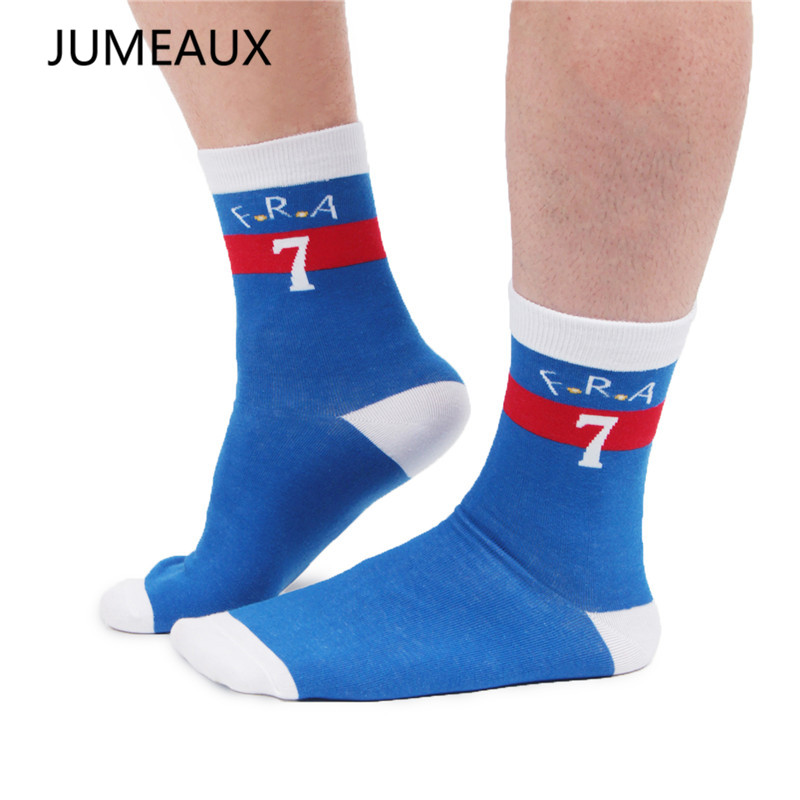 JUMEAUX Newly Fashion Men Socks Casual Breathable Cotton Soft In Crew Socks for Men 2 Pairs