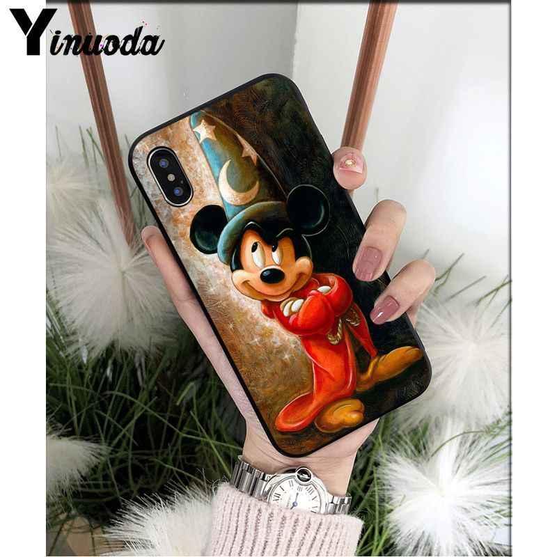 Yinuoda Веселый Микки Маус клиента высокое качество чехол для телефона для Apple iPhone 8 7 6 6 S Plus X XS Макс 5 5S SE XR крышка мобильного