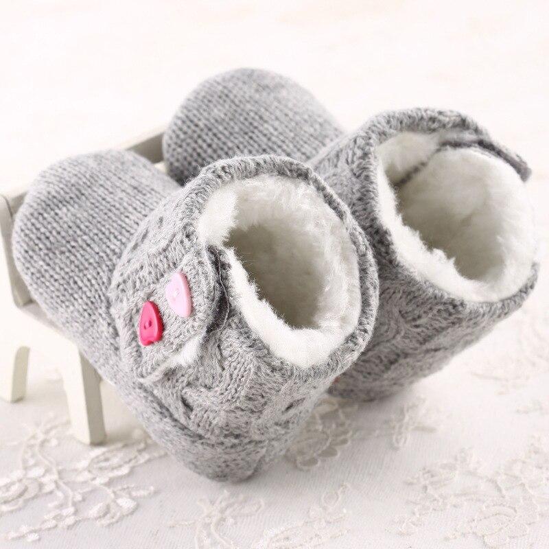 Caliente venta del bebé botas de invierno cálido hilo zapatos de ...