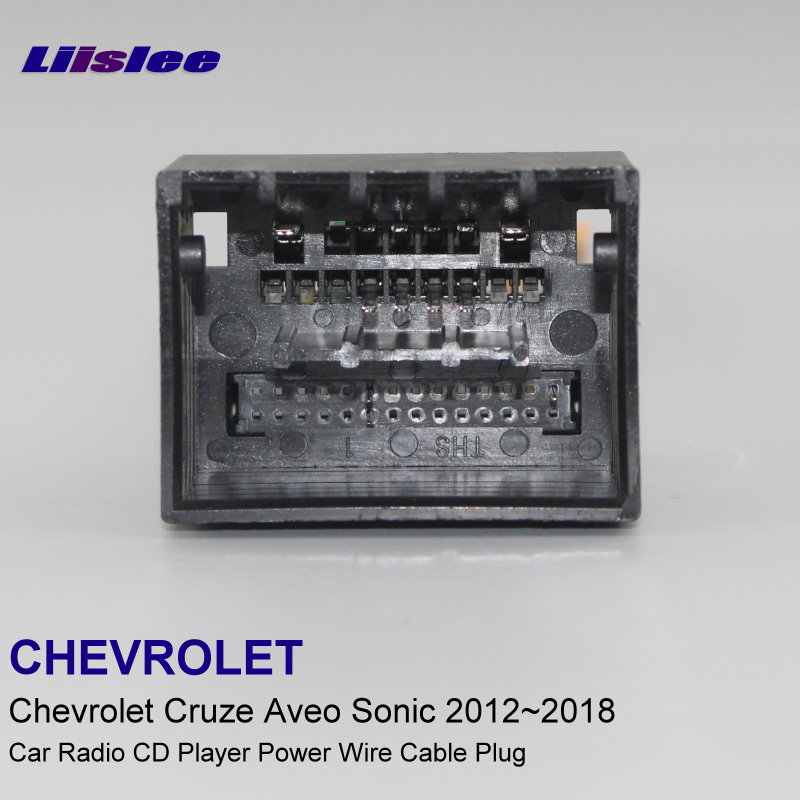 liislee plugs into factory harness for chevrolet cruze aveo sonic  2012~2018 radio wire adapter