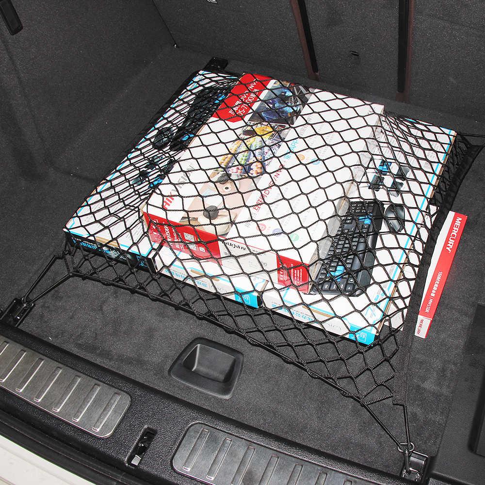 Mala do carro Corda de Nylon Net Para Mercedes Benz W211 W221 W220 W163 W164 W203 C E CLS SLK GLK M GL CIA GLA GLE AMG acessórios