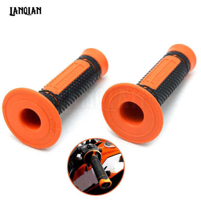 Pro Taper Grip Handle MX Grip for ktm Dirt Pit bike Motocross Motorcycle Handlebar Grips orange color Hand Grips free shipping