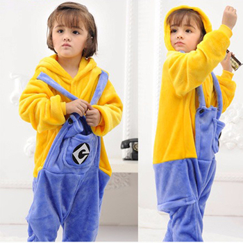 1479c5838 Children Pajamas Cosplay Cartoon Animal Minions Onesie Kids Sleepwear Baby  Long Sleeve Pijama Infantil Kids Boy Girls Clothes