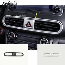 Для hyundai Kona Энсино Кауаи 2017 2018 2019 автомобиля стикер внутренняя отделка спереди Средний Кондиционер Переключатель выхода вентиляционные панели 1 шт.