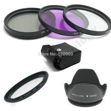 58mm Filter Adapter Ring for Canon PowerShot G1X FA-DC58C +  UV CPL FLD filter  kit + Lens Hood