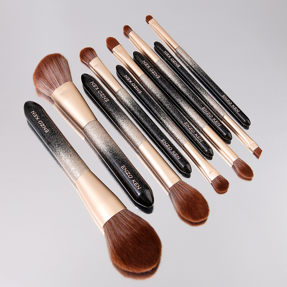 ENZO KEN 10 Pcs Makeup Brushes Set for Highlighting and Contouring Suitable for Eye and Face Makeup 13