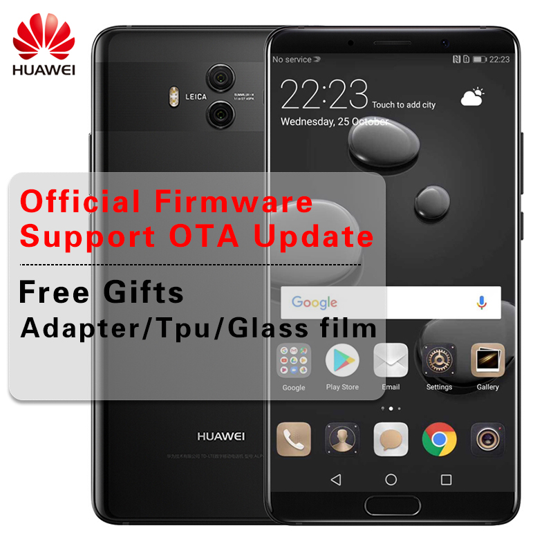 Global Firmware Huawei Mate 10 Android 8.0 Mobile Phone Dual Rear Camera 20MP 12MP