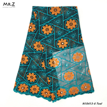 Mr.Z Embroidered African French Lace 2019 High Quality Nigerian Lace Fabric Dubai Tulle French Lace Material Fabric With Stones цены