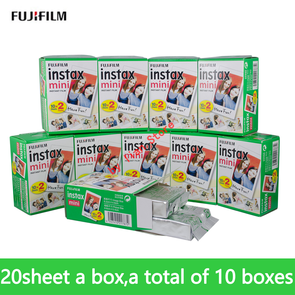 Fujifilm Fuji instax mini 9 FILM 200 feuille Fuji instsnt photo autocollants photo pour mini 8 7 s 25 50 s 90 Appareil Photo instantané Papier
