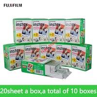 Fujifilm Fuji instax mini 9 пленка 200 лист Fuji instsnt фото наклейки для мини 8 7 s 25 50 s 90 мгновенная камера бумага