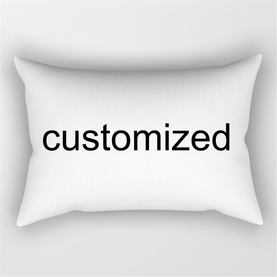 30*50CM customized <font><b>Pillow</b></font> Cover Cotton Linen Colorful Creative DIY print Your own Image <font><b>Pillow</b></font> <font><b>Case</b></font> Chair <font><b>Pillow</b></font> Covers image