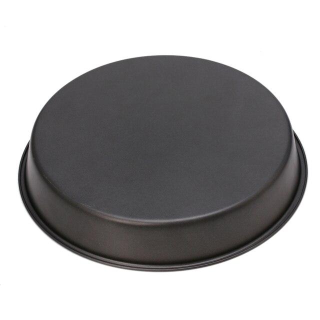 Plateau à Pizza à plat profond rond | Plateau à tarte antiadhésif, outil de cuisine de cuisson de 22cm/24cm en acier au carbone