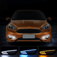 New Car Accessories LED DRL Daytime Running Lights Daylight Fog Light LED Fog Lamp For Focus