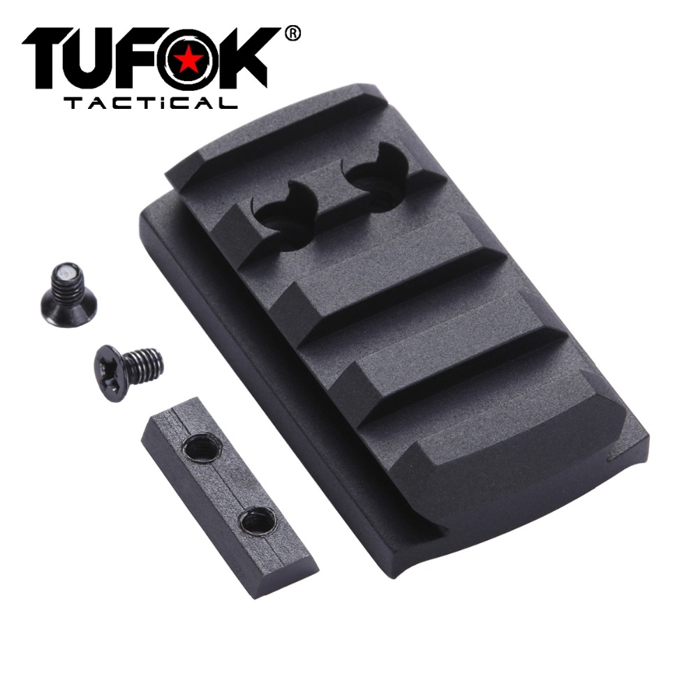 Image 2 - TuFok Glock Plate G17/19/22/23/26/27/34 Glock Mount For Viper Sightmark Burris Vortex Red Dot Sight  Picatinny Rail Adapter Base-in Scope Mounts & Accessories from Sports & Entertainment