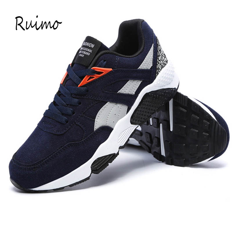Sneakers Running Shoes Men Shoes Rubber Sole Trend Of Leisure Sports Shoes Pure Cotton LACES Air Cushion Black Low Upper Lace-up