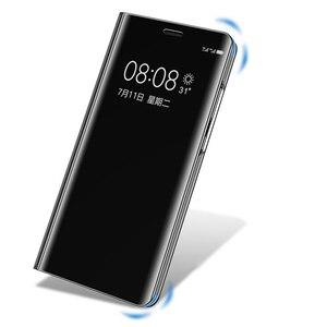 Image 4 - Funda abatible con espejo y ventana para Samsung Galaxy S9 Plus, S8 Plus, S7, S6 Edge, carcasa de teléfono con Chip inteligente para Samsung Note 9, 8, Note 5