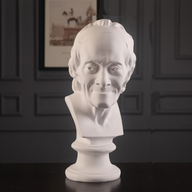 Voltaire Bust Statue Francois-Marie Arouet Figure Art Sculpture Resin Craftwork Home Decorations Line Drawing Teaching Aids R944Voltaire Bust Statue Francois-Marie Arouet Figure Art Sculpture Resin Craftwork Home Decorations Line Drawing Teaching Aids R944