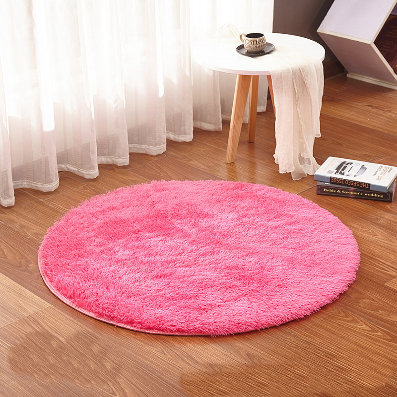 Watermelon Red Round Rug Carpets Yoga Living Room Kilim