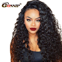 #2/#4 Brown 360 Lace Frontal Wig Pre Plucked With Baby Hair Gossip Lace Front Wigs For Black Women Brazilian Curly Wigs Non Remy