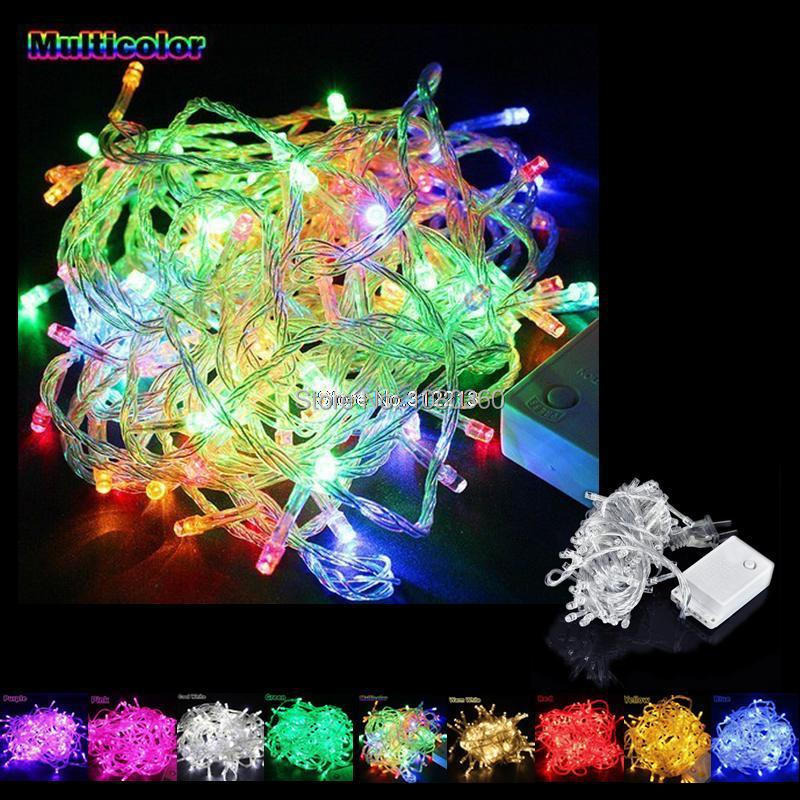 wholesale 110 120v 220 240v 10m 100leds led string christmas lights. Black Bedroom Furniture Sets. Home Design Ideas