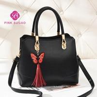 Pinksugao luxury handbags women bags designer purses and handbags crossbody bags for women new tote handbag butterfly tassel
