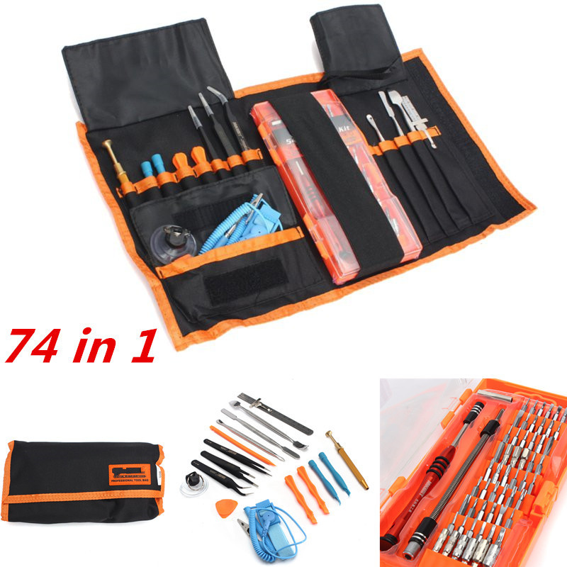 New 74 In 1 Portable Mobile Cell Phone Pro Tech Base Repair Tools Kit Pry Opening Tool Screwdriver Set Smartphone Hand Tools Set