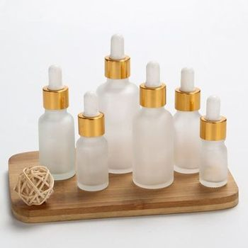12 x 5ml 10ml 15ml 30ml 50ml 100ml Frost Glass Dropper Bottle  Empty Cosmetic Packaging Container Vials Essential Oil Bottles