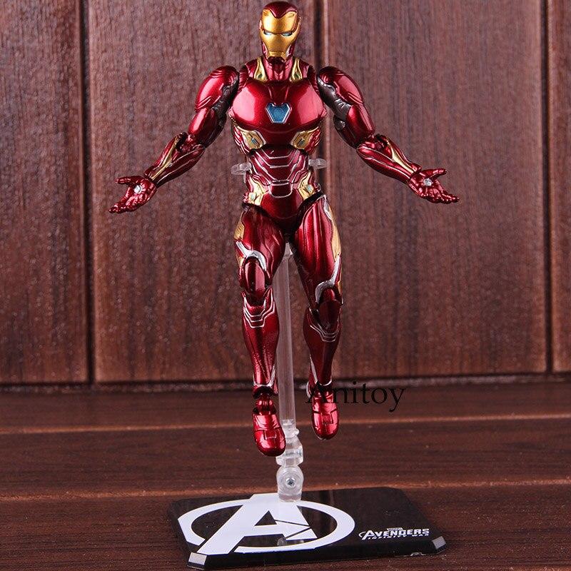 Shf homem de ferro mk50 & tamashi fase pvc marvel vingadores infinito guerra homem de ferro marca 50 figura ação collectible modelo brinquedo