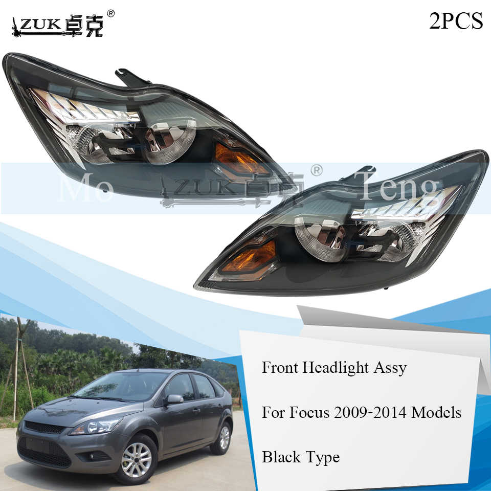 zuk 2pcs front bumper headlight headlamp head lamp for ford focus 2009 2010 2011 2012 2013 [ 960 x 960 Pixel ]