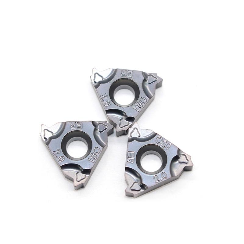 Купить с кэшбэком 16ER 1.0 ISO 1.25 1.5 1.75 2.0 2.5 3.0 22ER 3.5 4.0 4.5 5.0 Original Thread turning tool Tungsten Carbide Insert Threading Lathe
