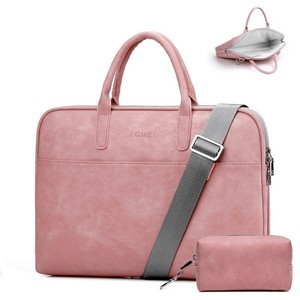 Image 2 - Moda damska skórzana torba na laptopa dla Toshiba Samsung Sony 15.6 13.3 14.1 calowa torba na komputer damska torba z Power Bag