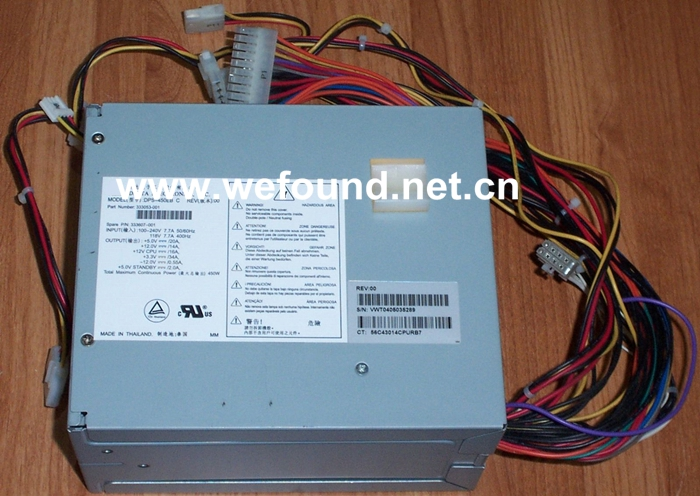 Workstation power supply For DPS-450EB C 333053-001 333607-001 450W Fully tested. workstation power supply dps 980ab for server pro a1186 980w original 95%new well tested working one year warranty