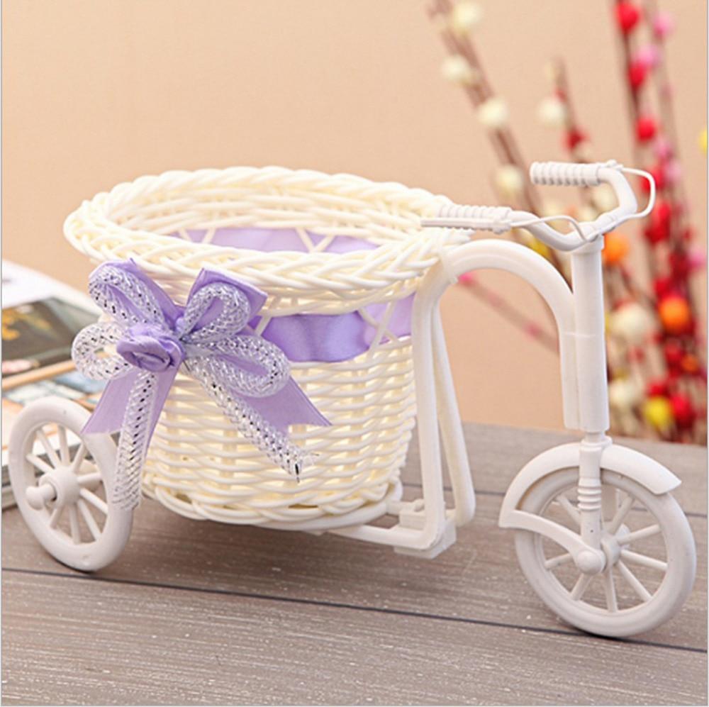 nueva colores triciclo cesta de flores florero hecho a mano cestas de platic partido decoracin