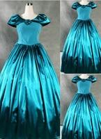 Super Gorgeous Blue Gothic Victorian Dress Long Dress