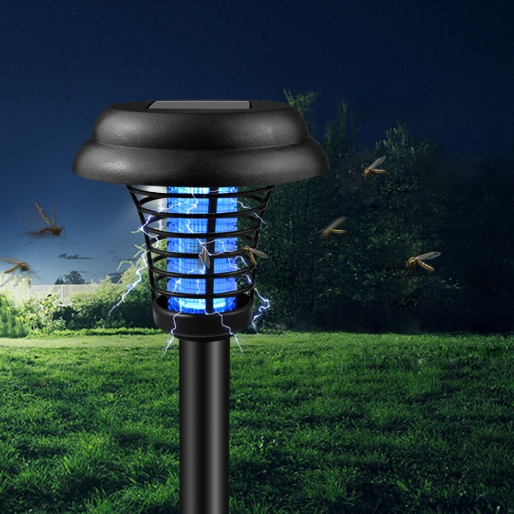 Electric Shock Mosquito Repellent Killer Lamp Solar Powered Outdoor Lawn Garden Light Snake Mouse Pest Reject Repeller Control