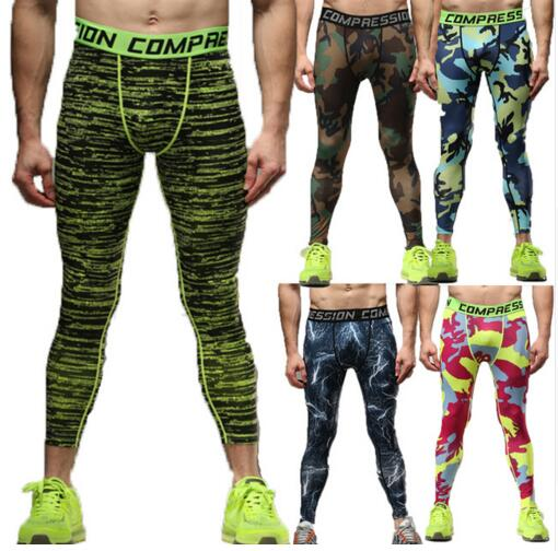 2017 18 Mens Compression Pants Jogger Fitness Excercise Bodybuilding Compression Tights Long trousers Pants