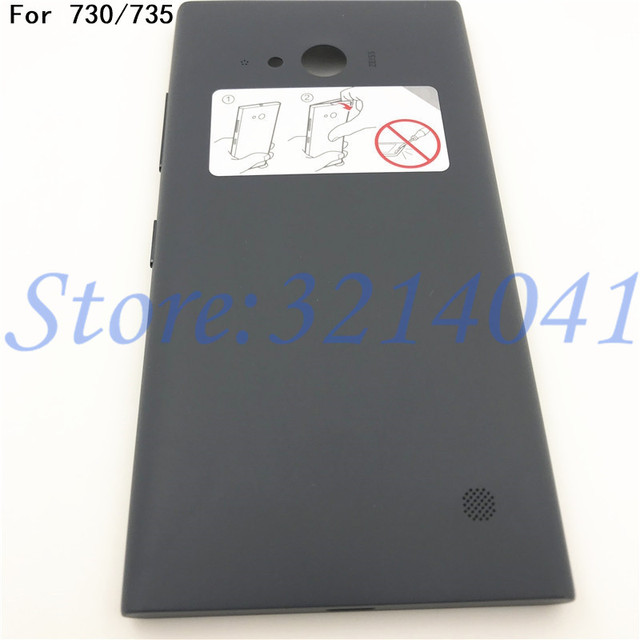 new product d448f db3f4 US $10.34 5% OFF|Original 4.7 inches Battery Back Cover Repair parts For  Nokia Lumia 730 735 Battery Cover Case Back Housing With NFC+Logo-in Mobile  ...