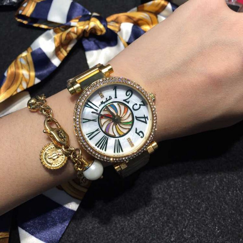 ФОТО Luxury Woman Watches Brand Gold Stainless Steel Diamond Dress Women Quartz Wristwatch Elegant Waterproof Lady Clock reloj mujer