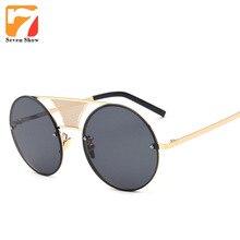 Aleación de la Ronda de Steampunk gafas de Sol Hombres de Las Mujeres del Desinger de la Marca de La Vendimia Gafas de Sol Para Los Hombres gafas de Sol Sombras Masculinas Gafas Gafas de Sol