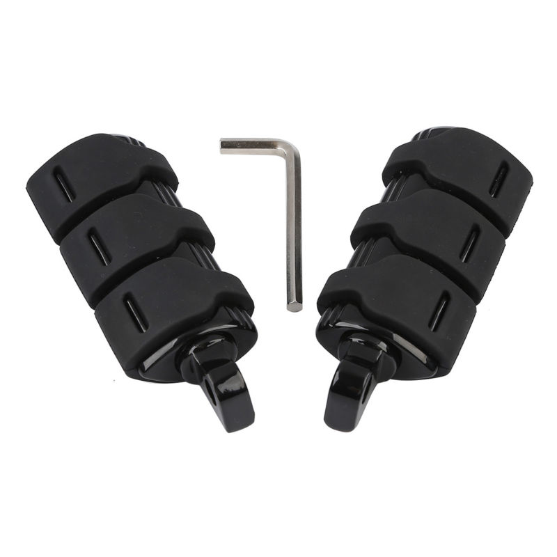 Amicable Black Male Mount Footpegs Footrest For Harley Blackline Street Bob Electra Glide Softail Fxst Fatboy Fxwg Fxs Ultra Classic Fixing Prices According To Quality Of Products Frames & Fittings