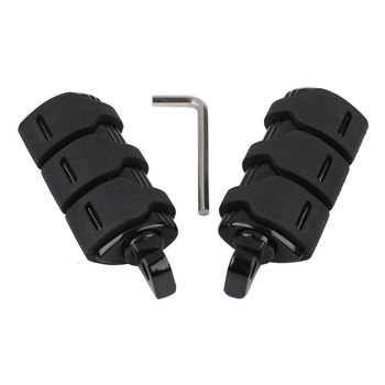Black Male Mount Footpegs Footrest For Harley Blackline Street Bob Electra Glide Softail FXST Fatboy FXWG FXS Ultra Classic