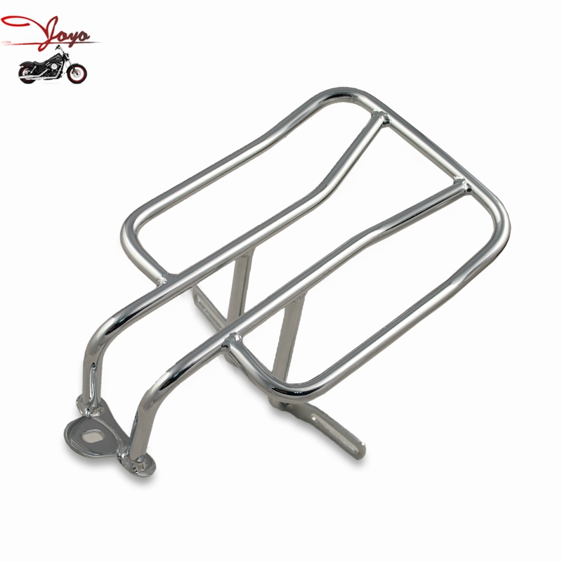 Motorcycle Chrome Luggage Rack Registration Plate Holder