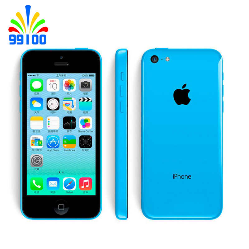 Used Original 100%  Apple IPhone 5C Unlocked Dual Core Cell Phone 8GB/16GB/32GB ROM WCDMA 3G Used Phone