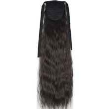 TOPREETY Heat Resistant B5 Synthetic Hair Fiber 22″ 55cm Kinky Straight Ribbon Ponytail Hair Extension 40 Colors Available