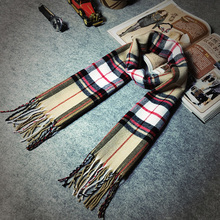 Winter Men Women Scottish Plaid Scarf tartan Cozy Warm Long Echarpe Tassel Business Casual Fashion 2016